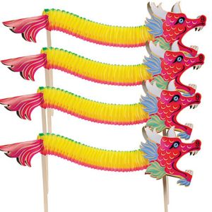Chinese Dragon Dance Favors 9in 4ct