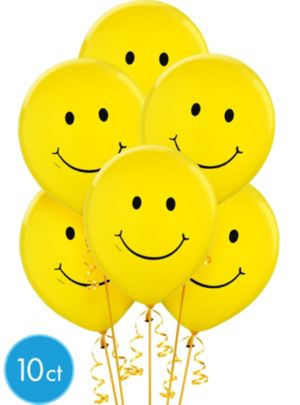 Smiley Face Balloons 10ct