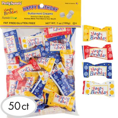 Happy Birthday Pillow Mints 50ct