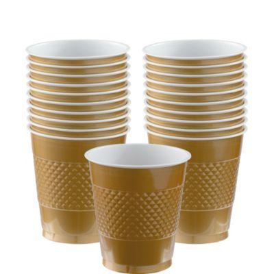 Gold Plastic Cups 20ct