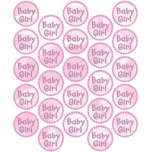 Baby Girl Sticker Seals 25ct