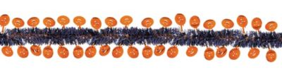 Fright Night Pumpkin Tinsel Garland