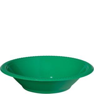 Festive Green Plastic Bowls 20ct