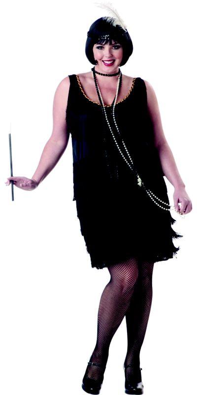 Adult Fashion Flapper Costume Plus Size