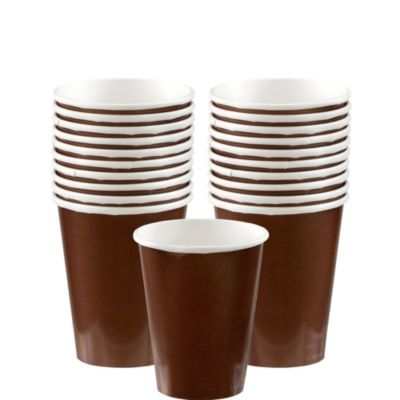 Chocolate Brown Paper Cups 20ct