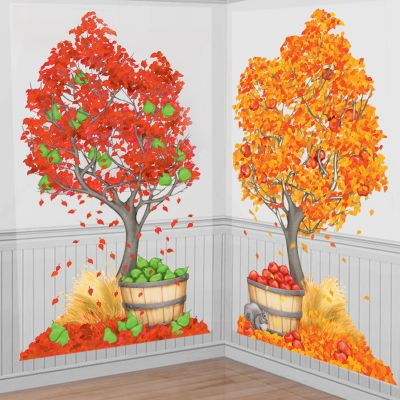 Autumn Trees Scene Setters 2ct
