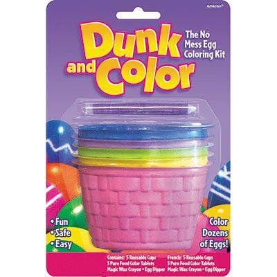 Dunk & Color Easter Egg Coloring Kit