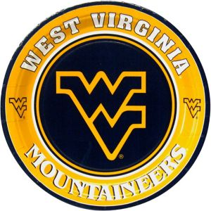 West Virginia Mountaineers Lunch Plates 8ct
