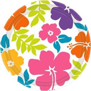 Hibiscus White Lunch Plates 50ct