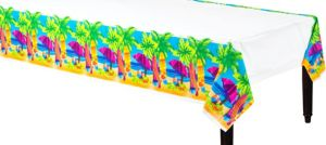 Surf's Up Plastic Table Cover