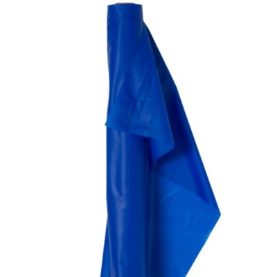 Extra-Long Royal Blue Plastic Table Cover Roll
