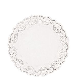 White Round Paper Doilies 12ct