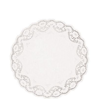 White Round Doilies 12ct