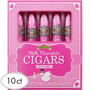 Pink It's a Girl Chocolate Cigars 10ct