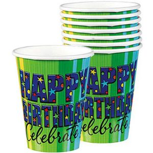 A Year to Celebrate Happy Birthday Cups 8ct