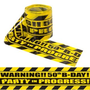 Party Scene 50th Birthday Warning Tape