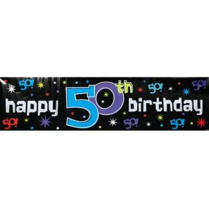 The Party Continues 50th Birthday Banner