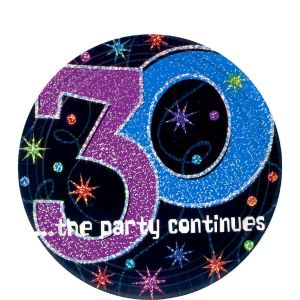 The Party Continues 30th Birthday Dessert Plates 8ct