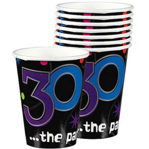 The Party Continues 30th Birthday Cups 8ct