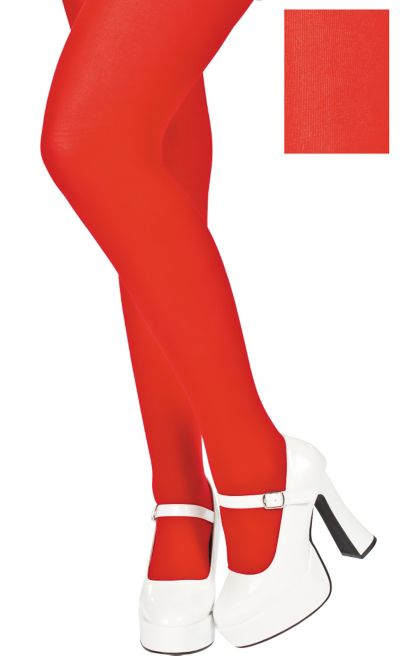 Adult Red Seamless Tights Plus Size