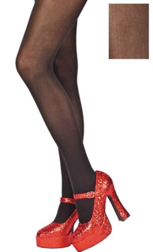 Adult Black Seamless Tights