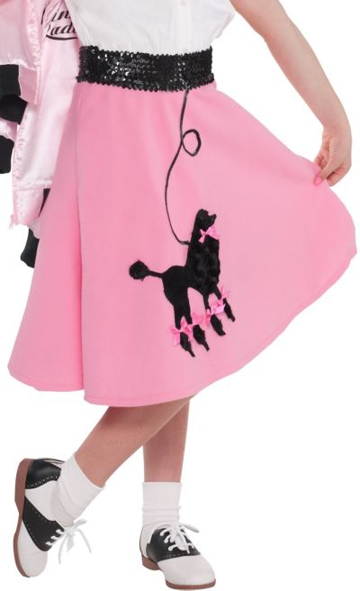 Pink Poodle Skirt For Girls Party City