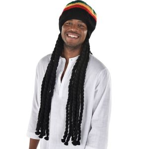 Rasta Dreadlock Wig with Tam
