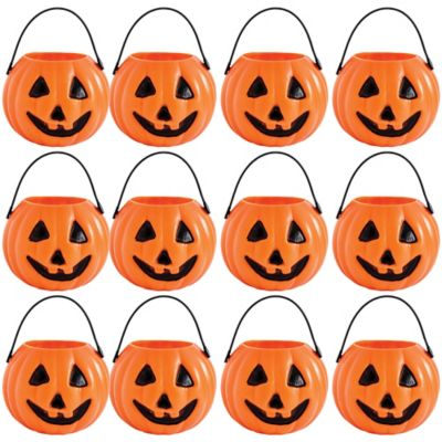 Pumpkin Trick Or Treat Candy Pails Party City