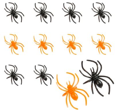 Black and Orange Spider Rings 30ct