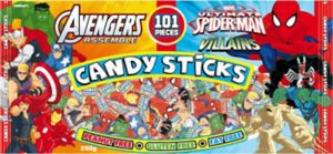 Spider-Man & Avengers Candy Sticks 101ct