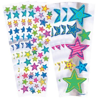 Splashy Star Stickers 8 Sheets
