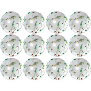 Star Glitter Bounce Balls 12ct