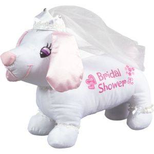 Bridal Shower Plush Autograph Dog