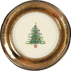Victorian Tree Dessert Plates 8ct