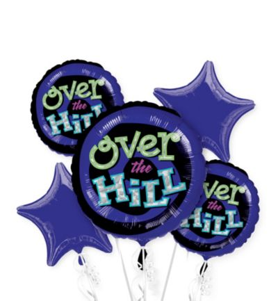 Over the Hill Balloon Bouquet 5pc