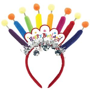 Happy Birthday Candles Headband