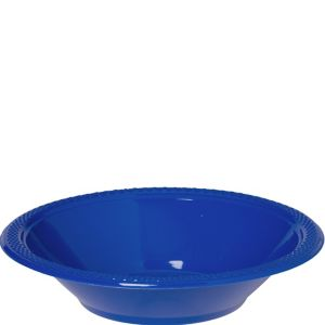 Royal Blue Plastic Bowls 20ct