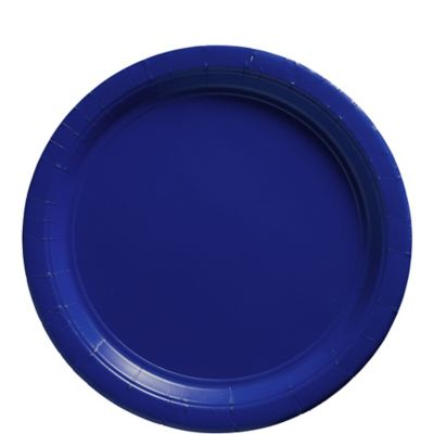 Royal Blue Paper Lunch Plates 20ct
