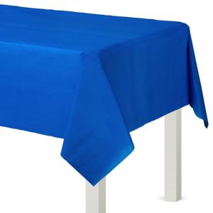 Royal Blue Plastic Table Cover