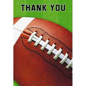 Football Fan Thank You Cards 8ct