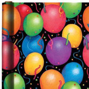 Jumbo Balloon and Confetti Gift Wrap