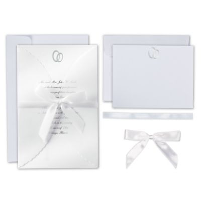 Infinity Printable Wedding Invitations Kit 25ct