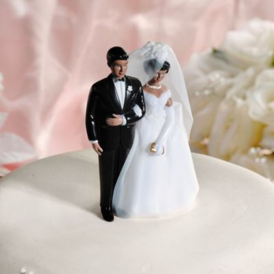 Classic Couple Ethnic Wedding Cake Topper 4 1/2in