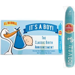 Blue It's a Boy Bubble Gum Cigars 36ct