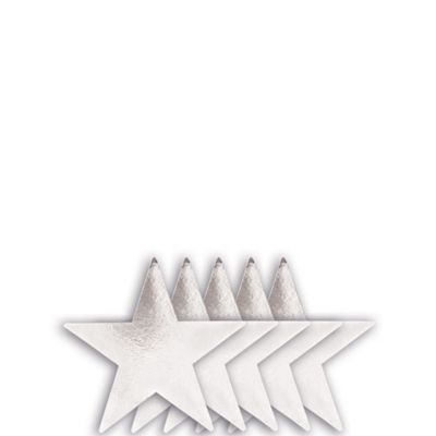 Small Silver Star Cutouts 5ct