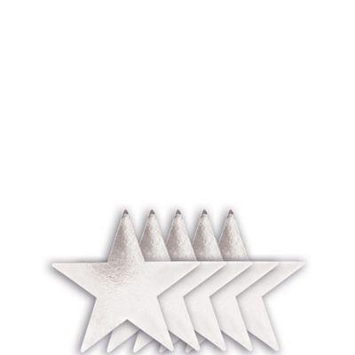 Small Silver Star Cutouts 5ct