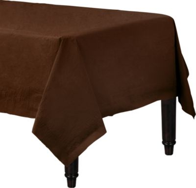 Chocolate Brown Paper Table Cover