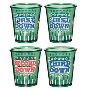 Football Shot Glasses 4ct