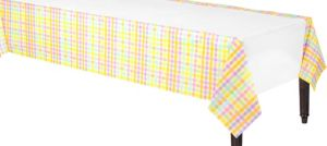 Colorful Gingham Paper Table Cover