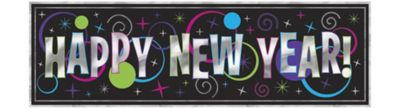Metallic Colorful New Year's Banner